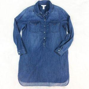 WHBM Chambray Denim Shirt Dress